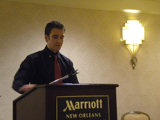 Alexander Daley, Far Western Student Representative, Presenting at the 2012 Convention