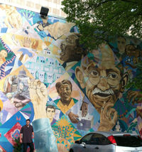 Joe at the Non-Violence mural in Atlanta